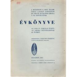 Budapesti X. kerületi állami Szt.László Gimn. és Ált. Iskola évkönyve 1946-1947