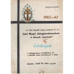 Budapesti XI. ker. Szent Margit Leánygimnázium és Nőnevelő Intézet évkönyve 1943-1943