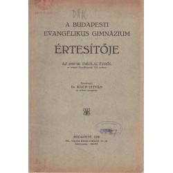 Budapesti Evangélikus Gimnázium értesítője 1937-1938