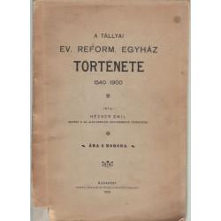 A tállyai ev. református egyház története