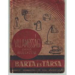 Barta és Társa villamossági cikkek árjegyzéke 1938