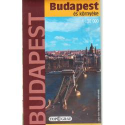 Budapest és környéke (várostérkép)