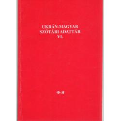 Ukrán-magyar szótári adattár VI. (dedikált)