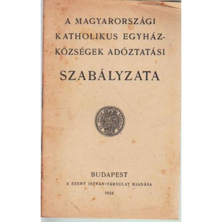 A magyarországi katholikus egyházközségek adóztatási szabályzata