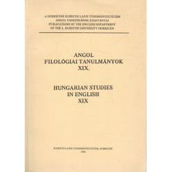 Angol filológiai tanulmányok XIX. (dedikált)