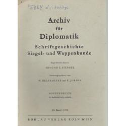 Archív für Diplomatik (dedikált)