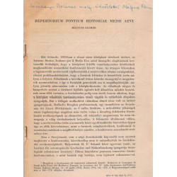 Repertorium Fontium Historiae Medii Aevi (dedikált, borítékkal)