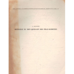 Beiträge zu den Quellen des Pray-kodexes (dedikált)