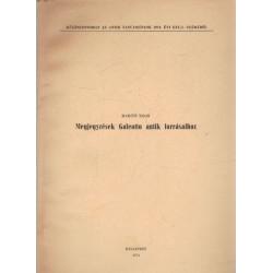 Megjegyzések Galeotto antik forrásaihoz