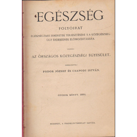 Egészség 1891-92