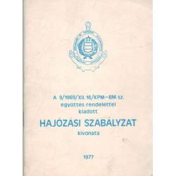 Hajózási szabályzat kivonata (1977)