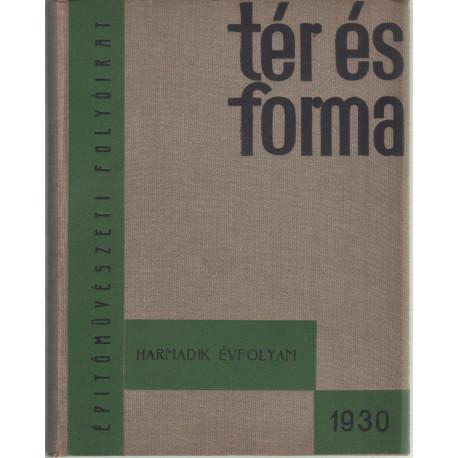 Tér és forma 1930. évf. teljes