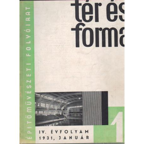 Tér és forma 1931. évf. teljes