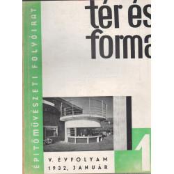 Tér és forma 1932. évf. teljes