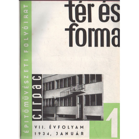 Tér és forma 1934. évf. teljes