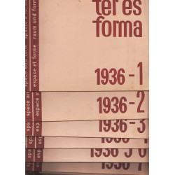 Tér és forma 1936. évf. (Hiányzik 10-11 szám)