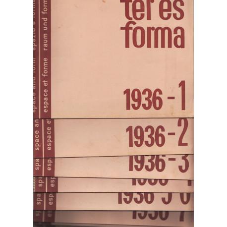 Tér és forma 1936. évf. (Hiányzik 10-11 szám)