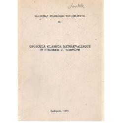 Klasszika- Filológiai Tanulmányok III. kötet