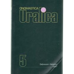 Onomastica Uralica 5 ( Angol nyelvű )