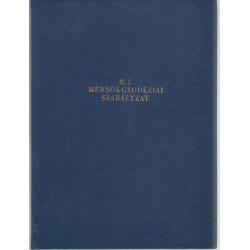 M.1.Mérnök geodéziai szabályzat.