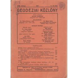 Geodéziai közlöny ( 1947 -es )
