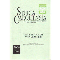 Studia Caroliensia , A károli Gáspár Református Eg yetem folyóirata