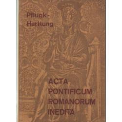 Acta Pontificum Romanorum Inedita ( latin nyelvű ) I-III kötet .