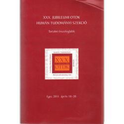 XXX. Jubileum OTDK Humán Tudományi Szekció
