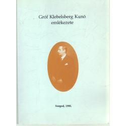 Gróf Klebelsberg Kunó emlékezete.
