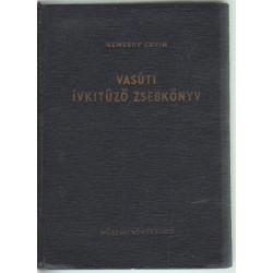 Vasúti ívkitűző zsebkönyv.