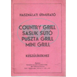 Country grill saslik sütő puszta grill m