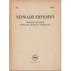 Néprajzi értesítő 1958.