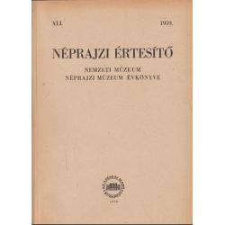 Néprajzi értesítő 1959.