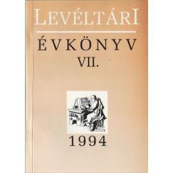 Levéltári évkönyv VII.