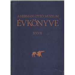 A Herman Ottó Múzeum évkönyve XXVII.