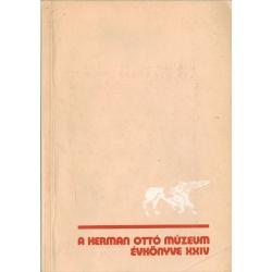 A Herman Ottó Múzeum évkönyve XXIV.