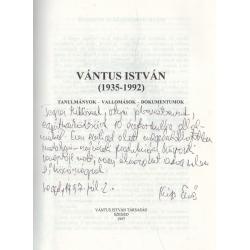 Vántus István (1935-1992) Dedikált