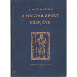 A magyar sport ezer éve II. kötet
