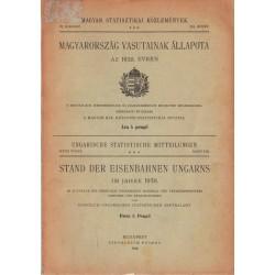 Magyarország vasutainak állapota az 1938. évben