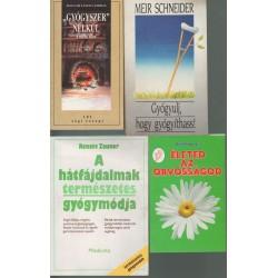 Természetgyógyászati könyvek (4 db)