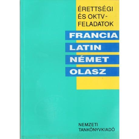 Érettségi és OKTV-feladatok - francia, latin, német, olasz 1991/92