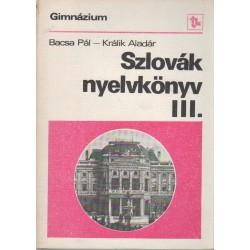 Szlovák nyelvkönyv gimnázium III.