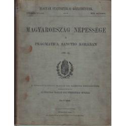 Magyarország népessége a Pragmatica Sanctio korában 1720-21.