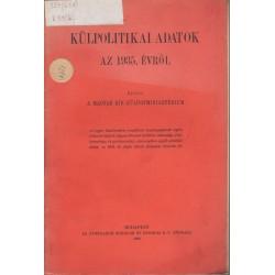 Külpolitikai adatok az 1935. évről