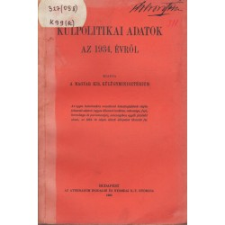 Külpolitikai adatok az 1934. évről