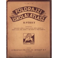 Földrajzi iskolai atlasz II. füzet