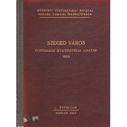 Szeged város fontosabb statisztikai adatai 1956.