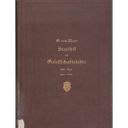 Statistik und Gesellschaftslehre Erster Band