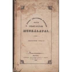 A pesti növendék-papság magyar iskolájának munkálatai XII. évfolyam