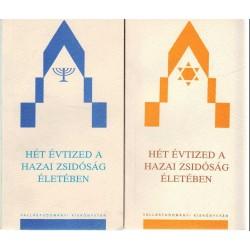 Hét évtized a hazai zsidóság életében 1-2.kötet
